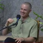 A photo of Adyashanti smiling during the talk